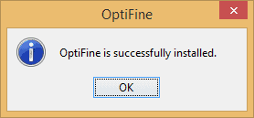 Installed OptiFine