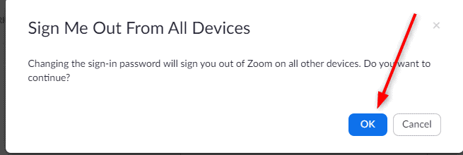 Sign-out Zoom from all devices