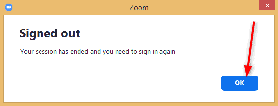 Logout Zoom on all Devices