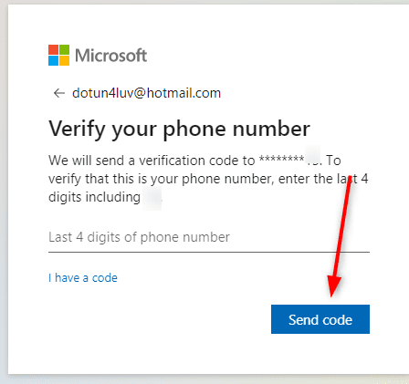 Verify your phone number